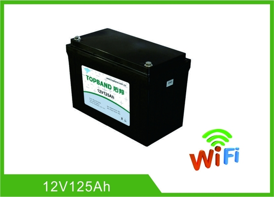 China Selbststart-tiefes Zyklus-Lithium-Batterie 12V Material 125Ah LiFePO4 mit WIFI-Funktion usine